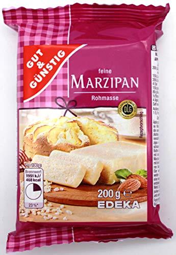 Gut & Günstig feine Marzipan Rohmasse, 12er Pack (12 x 200g)