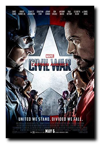 captain america iron man poster - 4