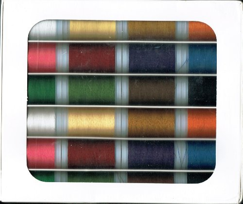 Amazing Deal Melrose Polyester Thread Sewing & Embroidery Assortment, 24 Spools, 12 Colors