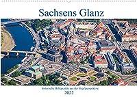 Sachsens Glanz - historische Hoehepunkte aus der Vogelperspektive (Wandkalender 2022 DIN A2 quer): Luftbilder historischer Hoehepunkte in und rund um Dresden (Monatskalender, 14 Seiten )
