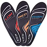 CCM Custom Support Performance Skate Insoles, normal profile, Orange Black, 6-7.5