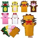 LEMESO 6 piezas Marionetas de mano para Niños DIY Kit de Marionetas Fieltro Artesanía Juguetes Actividad Creativa Divertido Juego de Roles de Animales Herramientas de Enseñanza Clase