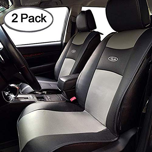 Big Ant Waterproof Universal 2 PCS Car Seat Cushion Covers PU Leather Seat Protector Seats Mat Fit