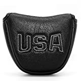 Golf Putter Cover,Putter Headcovers Mallet Putter Head Cover...