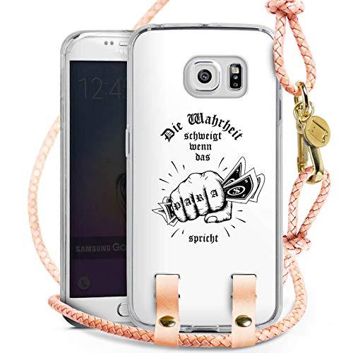 DeinDesign Samsung Galaxy S6 Edge Carry Case Hülle zum Umhängen Handyhülle mit Kette Xatar Fan Article Merchandise Fanartikel Merchandise