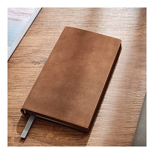 Cuaderno clásico Mini Notebooks, surfacenotebook Suave, auténtica Piel de Oveja, 6,8'x3.9, Negocio, el General Notebook, Exquisita Literatura de Negocios y el Arte (Color : Brown)