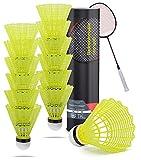 TK Gruppe Timo Klingler volants balles de badminton jaunes pour l'entraînement et la compétition Badminton - volant de balles /...