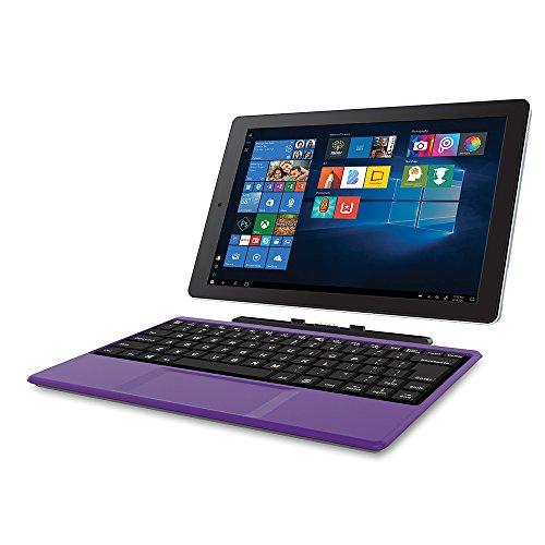 2018 Newest Premium High Performance RCA Cambio 10.1' 2-in-1 Touchscreen Tablet PC Intel Quad-Core Processor 2GB RAM 32GB Hard Drive Webcam Wifi Microsoft Office Mobile Bluetooth Windows 10-Purple