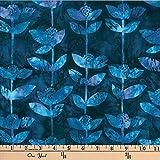 Hoffman 0668212 Bali Batik Block Flower Wisteria Fabric