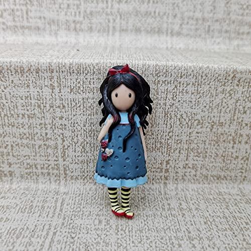 FEIYI Little Plastic elfos perfume afrutado London Painter Painting Girl Fantasy Girl Doll Modelo Cake Doll Regalo para niña (Color: Azul)