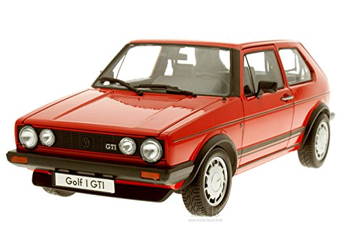 Welly Modellauto 1:18 VW Golf 1 GTI Rot