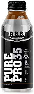 ABB Pure Pro 35, Whey and Casein Protein Shake, Ready to Drink, RTD, 35 grams Protein, Flavor: Chocolate, 12-Ounce Bottles (Pack of 12)