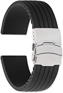 Oris Style Divers Clasp Rubber Watchband - 22mm