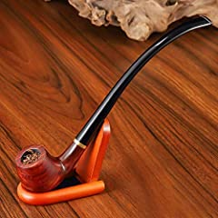 Joyoldelf Tobacco Pipe, Churchwarden Rosewood Smoking Pipe with Pipe Stand, Pipe Bit, 3-in-1 Scraper, Pipe Filter, Cork Knocker, Metall Ball & Delicate Gift Box #5