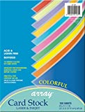 """Pacon Card Stock, Colorful Assortment, 10 Colors, 8-1/2"""" x 11"""", 100 Sheets"""