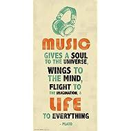 Plato Music Inspirational Motivational Quote Decorative Poster Print