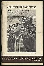 The Beloit Poetry Journal: A Chapbook for David Ignatow