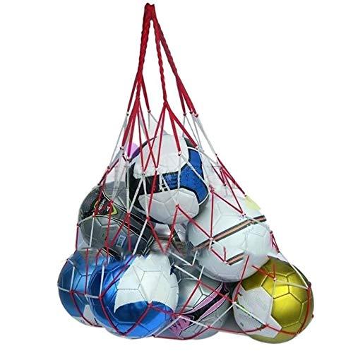 Chenhan Malla de Baloncesto Red de fútbol Deportivo al Aire Libre 10 Bolas Lleva Bolsas de Red de fútbol portátil Bolsa de Red Redes Gruesas