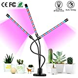 Grow Light for Indoor Plants, ARTSEA 45W LED Grow Lamp Full Spectrum Triple Heads Plant Lights with Auto Timer, 360°Adjustable Arms 5 Dimmable Levels Clip-on Desk Plant Growth Lamps