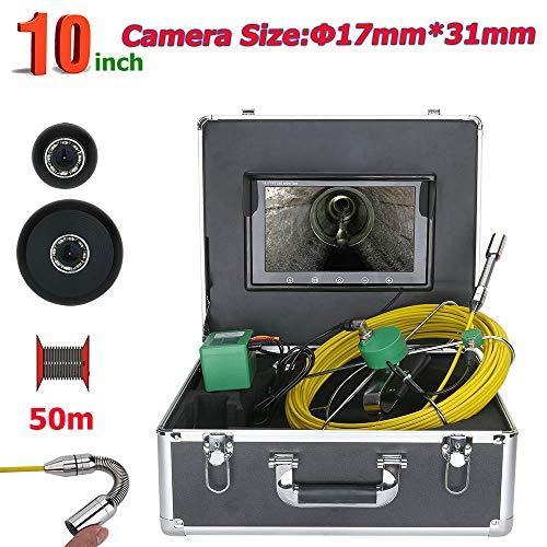 50m Röhr Inspektionskamera mit DVR-Rekorder Abwasserkanal Industrie Pipe-line Endoskop Inspektions Kamera Kanalinspektion Ablaufinspektion Gerät Wasserdichtes mit 10