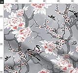 Schmetterling, Natur, chinesisch, grau, nahtlos, Japanische