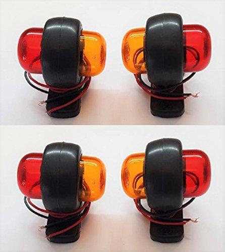 vnvis 4x 12V rot orange LED Side Marker Lights Lams Truck Bus Traktor Van Caravan Camper Wohnmobil