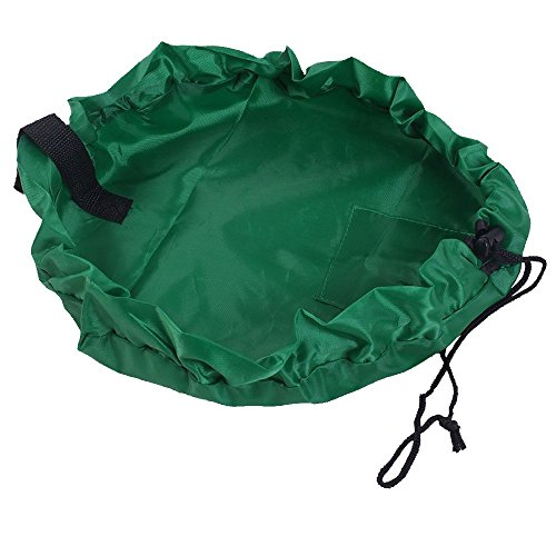 Ferryman Toy Storage Bag, 60 inch Foldable Toy Organiser for Home and Outdoor, Portable for Lego Building Block, Green