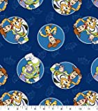1 Yard - Buzz & Woody Toy Story on Blue Cotton Fabric - Officially Licensed (Great for Quilting, Sewing, Craft Projects, Throw Blankets & More) 1 Yard X 44'