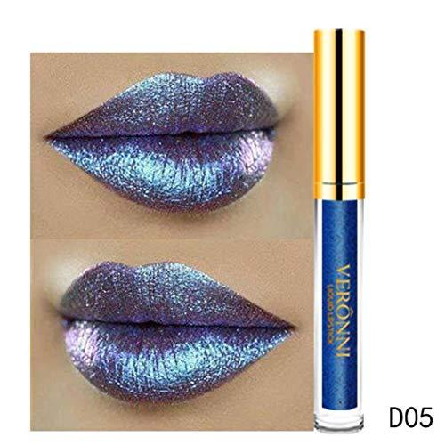 Brillant à Lèvres femme,Fulltime 10 couleurs 6ml femmes glitter magie flip rouge à lèvres Flip pull mat brillant à lèvres (05)