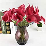 Jun7L Künstliche Blumen aus Latex, realistische Calla-Lilien für Hochzeit, Zuhause, Hotel, Garten, Dekoration, 10 Stück, 34X5X7CM