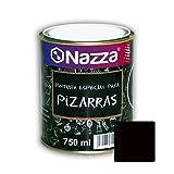 Pintura Pizarra para Paredes Nazza | Convierte tu pared en una pizarra | Fácil borrado y lavado | Color Negro | Envase de 750 ml.