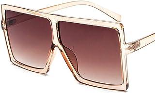QDE Sunglasses Oversized Sunglasses Women Retro Gradient Sun Glasses Men Vintage Shades Eyewear Big Frame Glasses