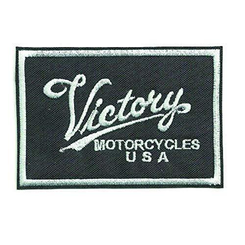 losparches Parche bordado termoadhesivo VICTORY MOTORCYCLES CUADRADO 9cm x 6cm