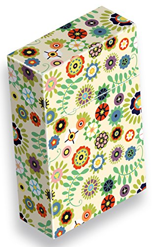 Zigarettenetui Pappe/Karton slipp overall ZIGARETTENSCHACHTEL ÜBERZIEHER Zigarettenschachtel Hülle Komplettüberzieher mit Deckel (102 Retroblumen beige, 3 Stück)