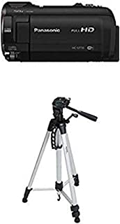 Panasonic HC-V770 HD Camcorder with Wireless Smartphone Twin Video Capture and 60-Inch Lightweight Tripod