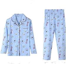 Pajamas Set Trendy XU Women Lovely Cartoon Chickens Print Button Down Night Sleepwear
