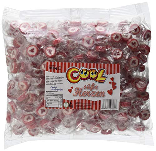 Cool handgefertigte 'Süße Herzen' Bonbons im Beutel, 1er Pack (1 x 1 kg)