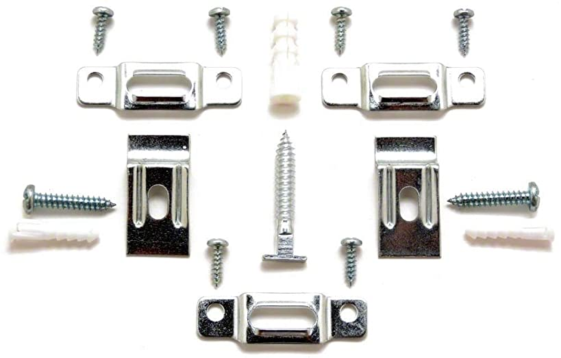 ArtRight T-Lock Security Locking Picture Hanger Set for Wood or Aluminum Frames, 10-Pack