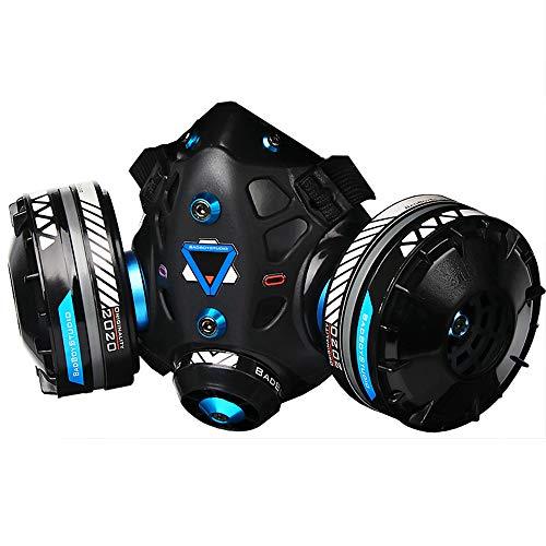 サイバーパンクな口のプロップの創造的なデザイン、SCI-Fiダンスパーティーの役割演奏、スチームパンクな履行予告コスプレ,ブルー,Closed