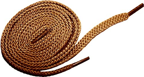 Shoeslulu 20' Premium Oxford Chukka Desert Boot Flat Cotton Canvas Shoe Laces (19.5 in. (50 cm), British Tan)