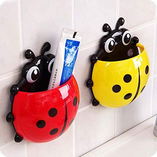 EisEyen Marienkäfer Zahnbürstenhalter Toilettenartikel Badezimmer Zahnbürste Container Hangehalter mit Saugnäpfen