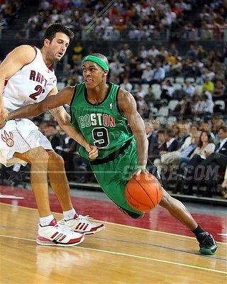 Rajon Rondo Boston Celtics dribble Italian jersey 8x10 11x14 16x20 photo 286 - Size 16x20