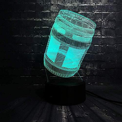 Dormitorio Acrílico Mood Jar Jarro Sala Mesa de comedor Luz de noche 3D Lámpara de mesa de luz de humor LED creativa