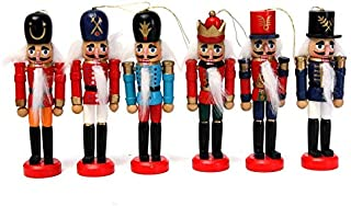 Motonupic 6pcs Exquisite Colorful Wooden Nutcracker Handcraft Gifts House Office Home Decor And Display 12cm - Cutting Ducks Bowl Puzzles Board Kids Table Original Urns Wood Bench House F