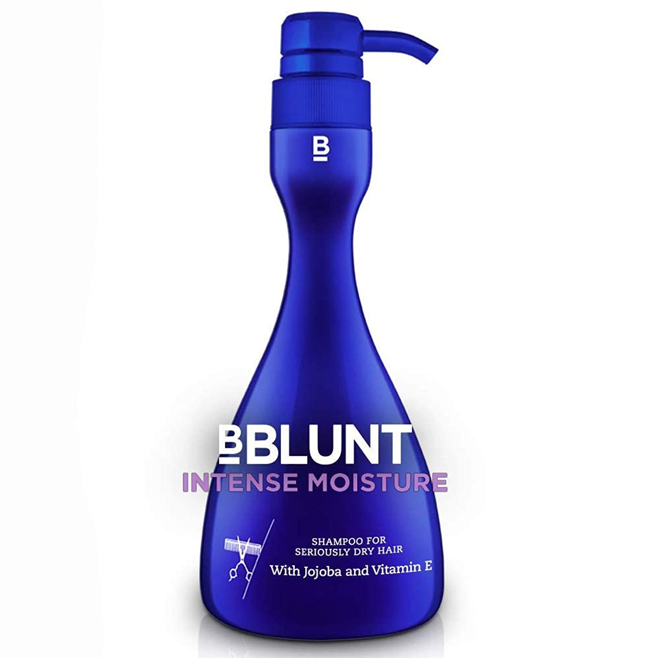 統治可能メロン立ち寄るBBLUNT Intense Moisture Shampoo for Seriously Dry Hair, 400ml (With Jojoba & Vitamin E)
