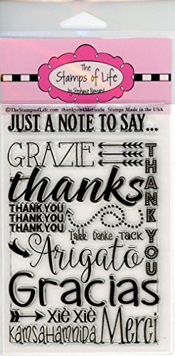 Thank You Stamps for Card-Making and Scrapbooking Supplies by The Stamps of Life -Thanks Phrases and Sentiments - ThankYou4Maricela