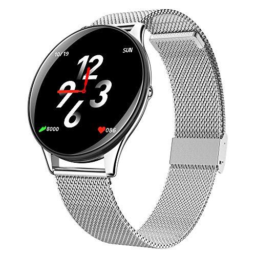 Yiwa SN58 armband, intelligent, IP67, waterdicht, activiteitenarmband, fitnesstracker, hartslagmonitor, hartslagmonitor, drukmonitor, Ar- Fitness Smartwatch, zilver.