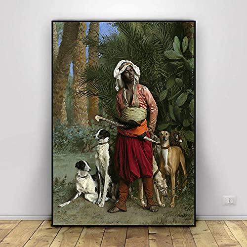 Serie de Pinturas en Lienzo más Famosa del Mundo Pintor francés Jean Leon Gerome Carteles en HD Impresiones Imagen de Arte de Pared para Sala de Estar 40x50cm (15.74x19.68 in) H-1297