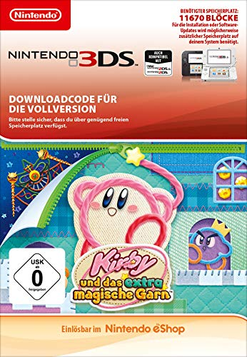 Kirby und das extra magische Garn Nintendo 3DS - Download Code