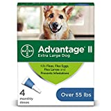 Advantage II 4-Dose Flea and Lice Treatment for Extra Large Dogs, Flea and Lice Treatment for Dogs Over 55 Pounds